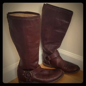 Frye Leather Brown Rider Boots
